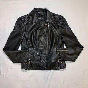Express Vegan Leather Moto Jacket Small Like New